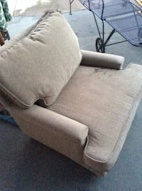 gray fabric sofa chair with ottoman Rohnert Park, 94928