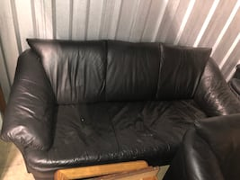 3-Piece Black Sofa (Falls Church)