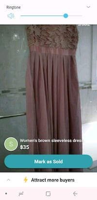 women's brown sleeveless dress Vancouver, V5X 1N3