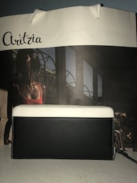 White and black leather kate spade wallet Calgary
