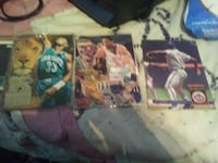 three sports trading cards Prospect, 38477