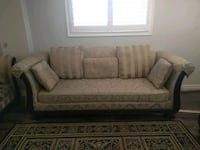 brown fabric 3 seat sofa Ajax, L1T 3J1