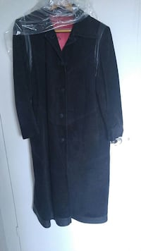 women's black suede button-down long sleeve coat Kitchener, N2M 5C8
