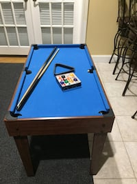 blue and black pool table Voorhees, 08043