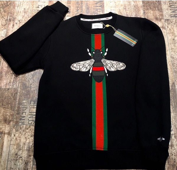 2d41dbb216fc Used Gucci and Authentic black and red Gucci bee-printed sweatshirt for  sale in New York - letgo