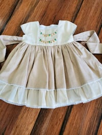 NWT Well dressed wolf oh holy golden dress size 12 months