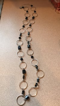 black and white beaded necklace Wellsville, 14895
