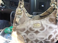 brown monogram Coach leather shoulder bag Duncanville, 75116