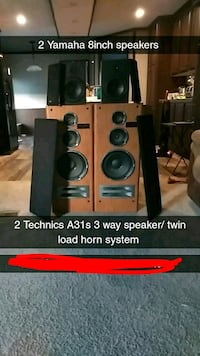 black and red home theater system 520 mi