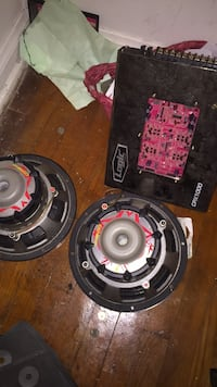 car stereo system 2 10s CVR DOUBLE WIRE FOR EXCELLENT SOUND. THESE ARE SOME BAD BOYS! Have your trunk going crazy!! Serious injuries  Galena Park, 77547