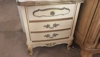 White wooden 3-drawer chest French provincial vintage girls night stand for bedroom  Frederick, 21701