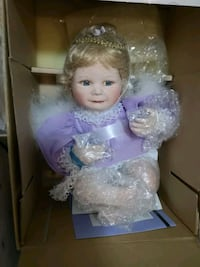 girl doll wearing purple dress Edmonton, T5M 0L1