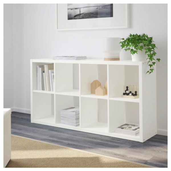 check out 7a226 deb3f IKEA KALLAX high gloss white Shelf unit