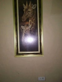 brown wooden framed painting of brown and white flower 791 mi