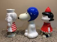 Snoopy, Linus with Blanket, Lucy - Set of 3 Vintage Avon Plastic Containers Granger