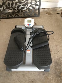 Compact stair step and resistance trainer