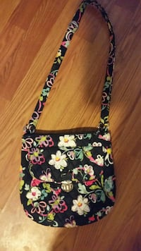 black and multicolored floral crossbody bag Hurricane, 25526