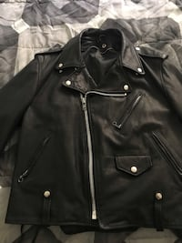 Schott heavy grain leather motorcycle jacket , missing inner lining $120. Saylorsburg, 18353