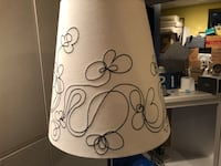 white and black floral table lamp Brookhaven, 11719