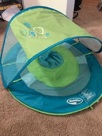 Baby's green and blue summer bather/pool float with shade Durham, 27713