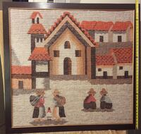 "Woven Picture 41"" x 43"" Very Good Condition Burnaby"