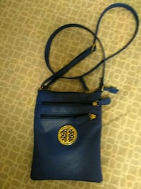 blue and yellow leather tote bag McMinnville, 37110