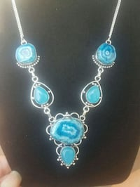 Blue gemstone necklace  Howell Township