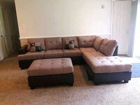 Brand New Tan Linen Sectional Sofa Couch +Ottoman  Silver Spring, 20902