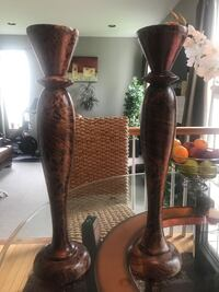 """20"""" Wooden Candle Holders"""