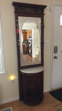 Brown wooden framed mirror with cabinet Frederick, 21703