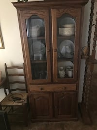 Brown wooden framed glass display cabinet Kearneysville, 25430