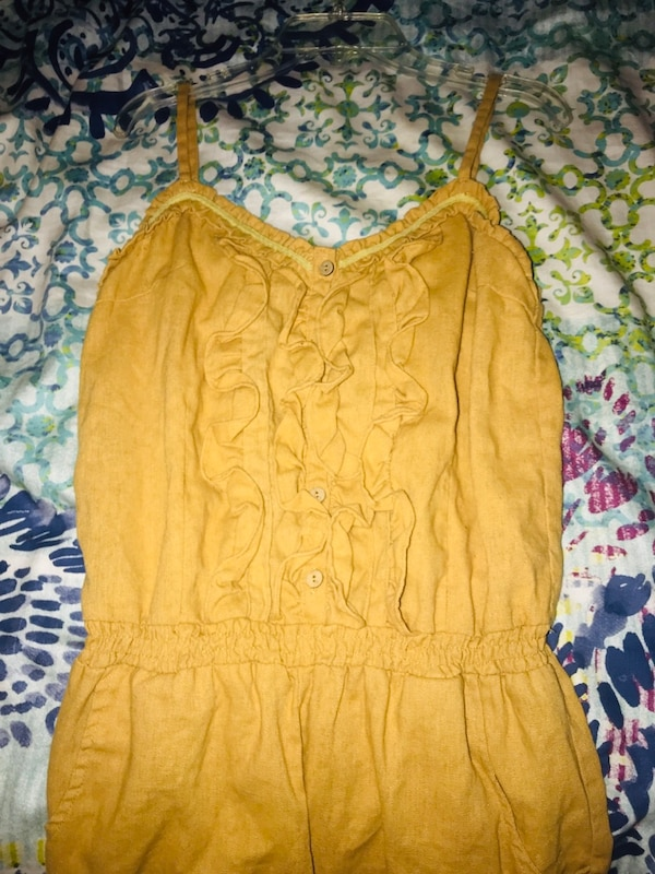 Women's Mustard Yellow Romper
