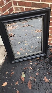rectangular black wooden framed mirror Clifton, 20124