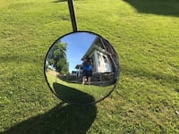 MIRROR , BUILDING MIRROR, 32 INCHES ROUND , GOOD USED CONDITION , $15 OBO