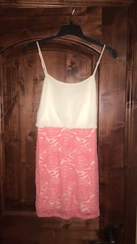 women's pink and white floral spaghetti strap dress size S Greenwood Village, 80121