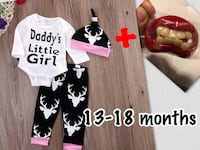 $20/set cute baby clothes with pacifiers Edmonton, T6W 2C3