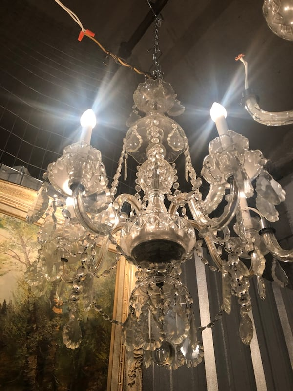 Antique bohemian chandelier with crystals 81979197-a173-4402-827d-f3adfb2dd230
