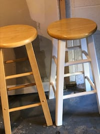 Stools. Pair. One with white bottom. VERY good shape