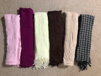 (6) scarves In excellent condition! From smoke free home.all for $18 (pick up only) Alexandria, 22304