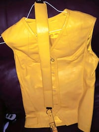 Vintage Canary yellow leather vest & belt Carrollton, 75006