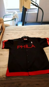 NBA SIXERS WARM UP JERSEY XL  551 km