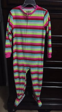 Pink, yellow, and blue striped romper Surrey, V3T 2Z6