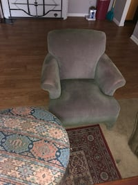 gray suede sofa chair with ottoman Orlando, 32817