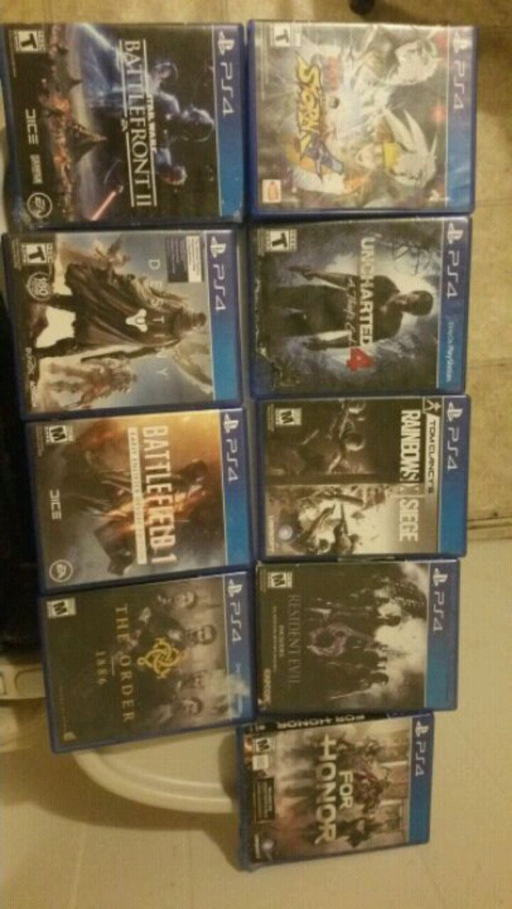 eight Sony PS4 game cases for sale  Auburn