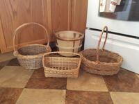 three brown wicker baskets Quinte West, K8V 5P4