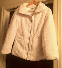 Girls White Furry Jacket w/Satin Quilted inside Baton Rouge