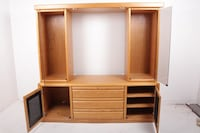 Entertainment cabinet with locking drawer and key PATASKALA