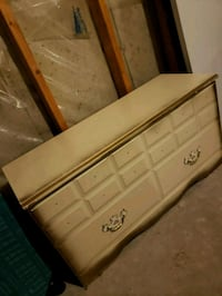 white and brown wooden dresser Calgary, T3E 2L8