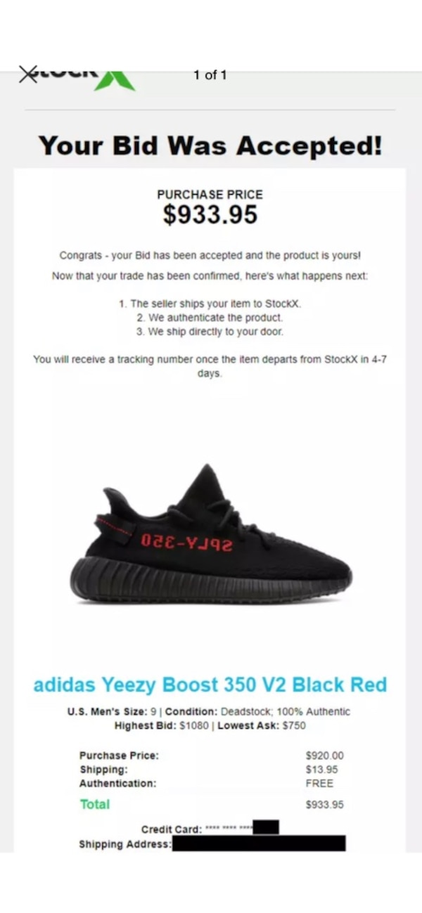 aca6c2c7c Yeezy boost 350 v2 bred size 9. Do not have the stockx tag included