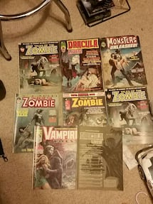 Monster and zombie magazines